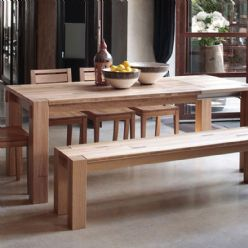 Elephant Extending Oak Dining Table